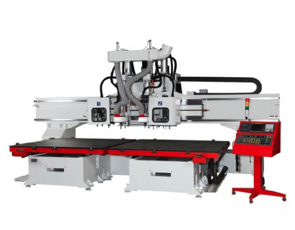 RO-203ATC-2T model moving table cnc router